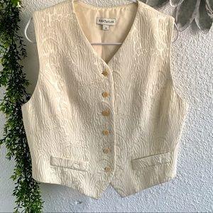 Ann Taylor vintage cream color vest